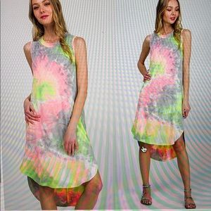 Boho Tie Dye Dress NWT